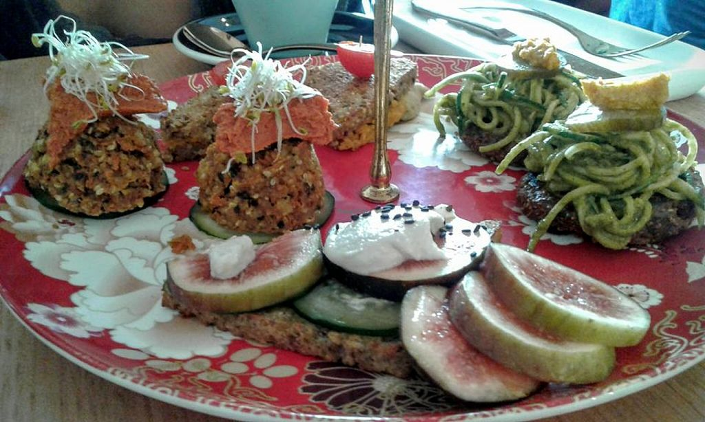 """Photo of CLOSED: Sadhana Kitchen  by <a href=""""/members/profile/TrudiH"""">TrudiH</a> <br/>Raw high tea <br/> June 20, 2016  - <a href='/contact/abuse/image/31212/154983'>Report</a>"""