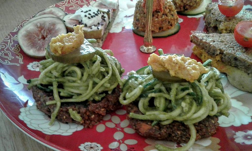 """Photo of CLOSED: Sadhana Kitchen  by <a href=""""/members/profile/TrudiH"""">TrudiH</a> <br/>Raw zoodles <br/> June 20, 2016  - <a href='/contact/abuse/image/31212/154985'>Report</a>"""