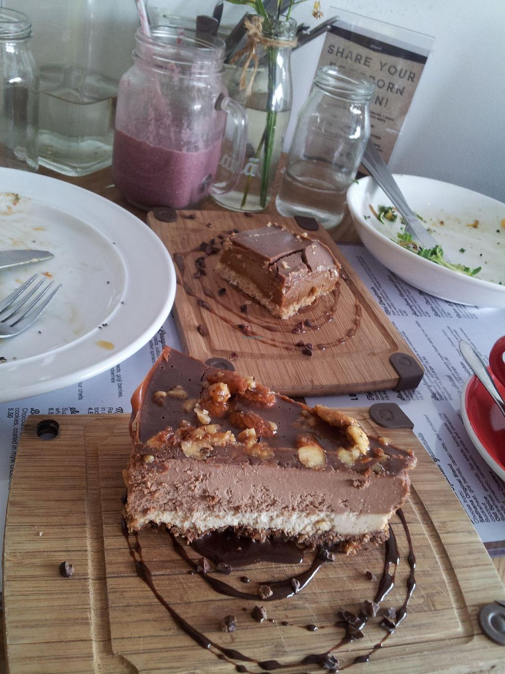 """Photo of CLOSED: Sadhana Kitchen  by <a href=""""/members/profile/cocoholic"""">cocoholic</a> <br/>Raw Snickers Cake <br/> March 14, 2014  - <a href='/contact/abuse/image/31212/65904'>Report</a>"""