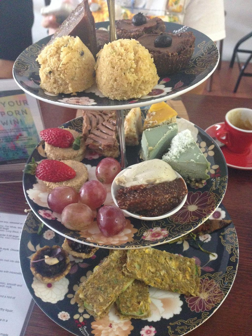 """Photo of CLOSED: Sadhana Kitchen  by <a href=""""/members/profile/xjohn"""">xjohn</a> <br/>Organic Raw Vegan High Tea <br/> July 20, 2014  - <a href='/contact/abuse/image/31212/74551'>Report</a>"""