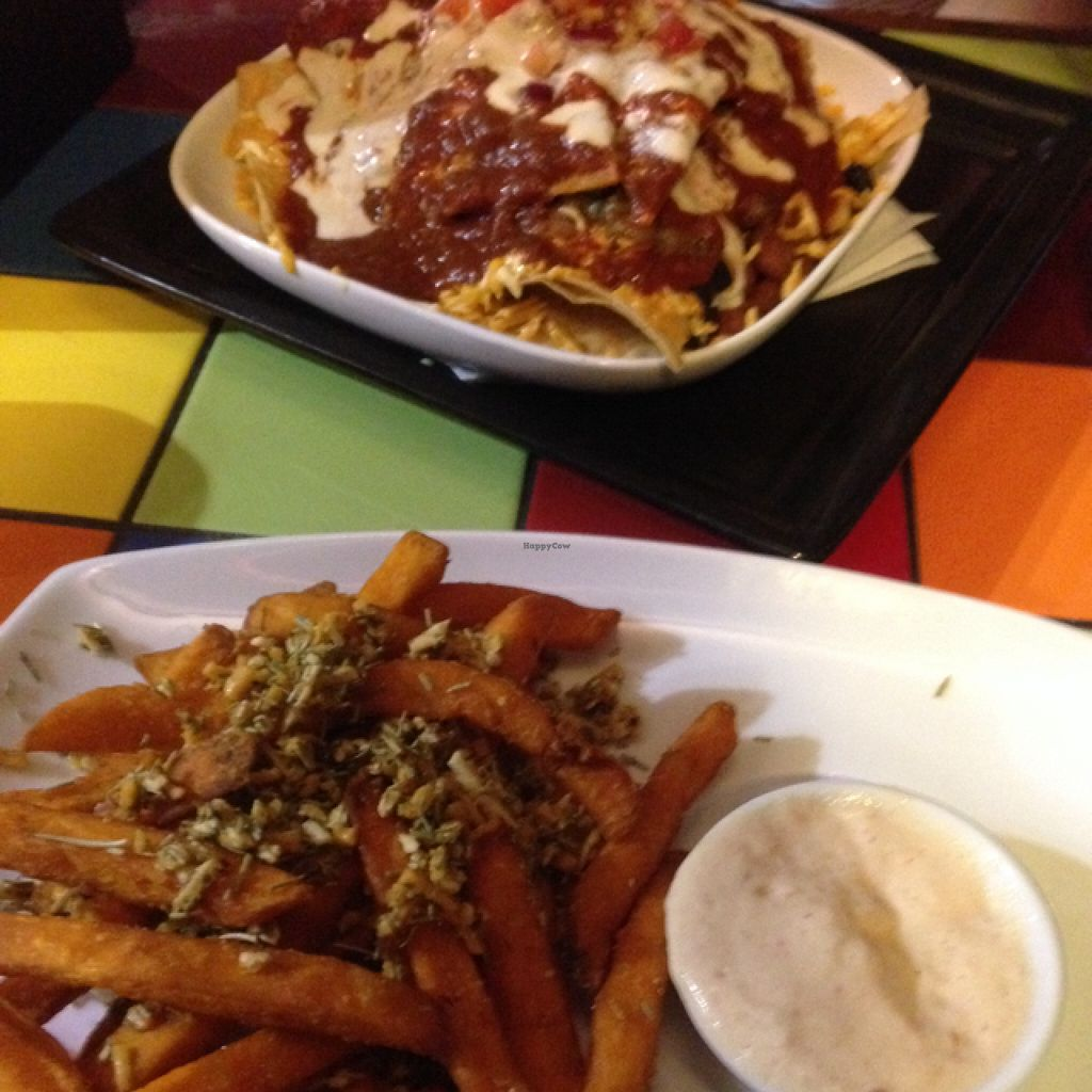 """Photo of CLOSED: Pickled Cactus Mexican Restaurant  by <a href=""""/members/profile/Chelseaja"""">Chelseaja</a> <br/>Aztec fries and nachos  <br/> February 6, 2016  - <a href='/contact/abuse/image/31227/135300'>Report</a>"""