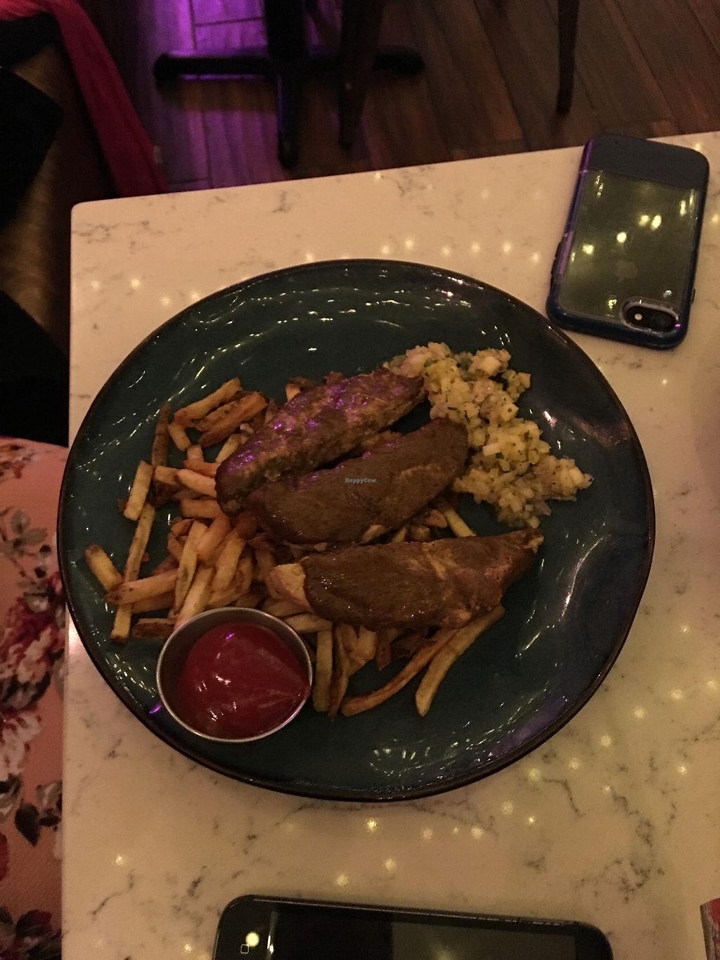 """Photo of Urban Vegan Kitchen  by <a href=""""/members/profile/RickyDerose"""">RickyDerose</a> <br/>Jerks chicken with fries <br/> February 1, 2018  - <a href='/contact/abuse/image/31266/353773'>Report</a>"""