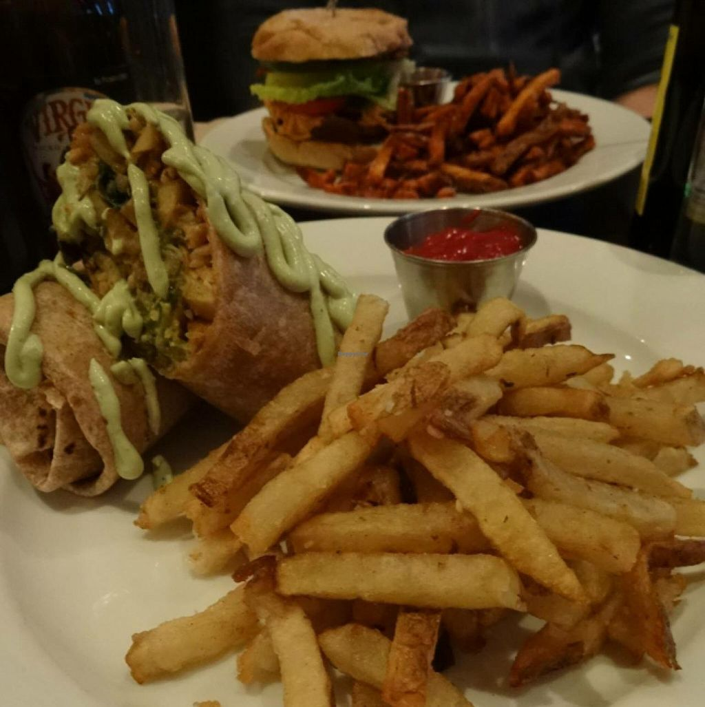 """Photo of Urban Vegan Kitchen  by <a href=""""/members/profile/Adele17"""">Adele17</a> <br/>Big burger and burrito!! <br/> December 19, 2014  - <a href='/contact/abuse/image/31266/88265'>Report</a>"""