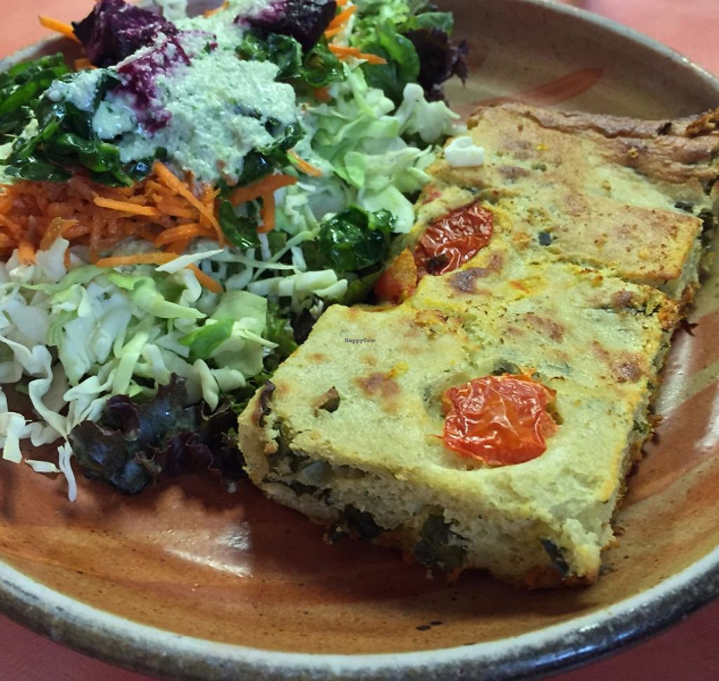 """Photo of Julia's Kitchen  by <a href=""""/members/profile/Ellenkm"""">Ellenkm</a> <br/>quiche made from mung dal  <br/> July 16, 2015  - <a href='/contact/abuse/image/31308/191070'>Report</a>"""