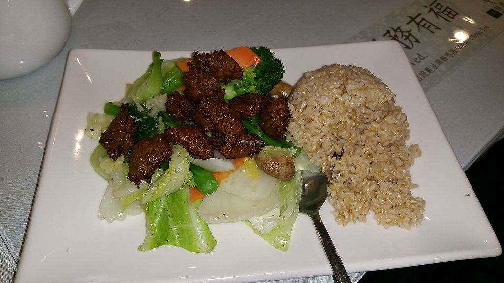 """Photo of Bodai Vegetarian  by <a href=""""/members/profile/Brok%20O.%20Lee"""">Brok O. Lee</a> <br/>""""Lamb"""" business lunch <br/> December 10, 2016  - <a href='/contact/abuse/image/31350/199170'>Report</a>"""