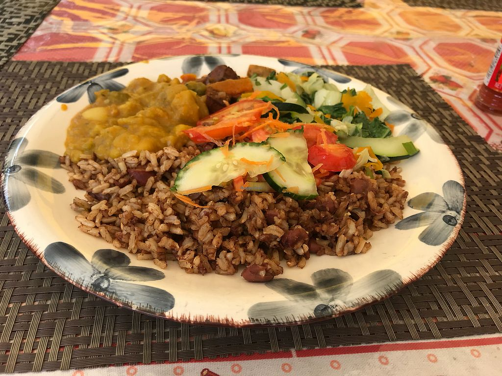 "Photo of Reggae Pot Rastarant  by <a href=""/members/profile/ChantelleDerrick"">ChantelleDerrick</a> <br/>A plate of everything! Yum! <br/> May 17, 2018  - <a href='/contact/abuse/image/31354/401196'>Report</a>"
