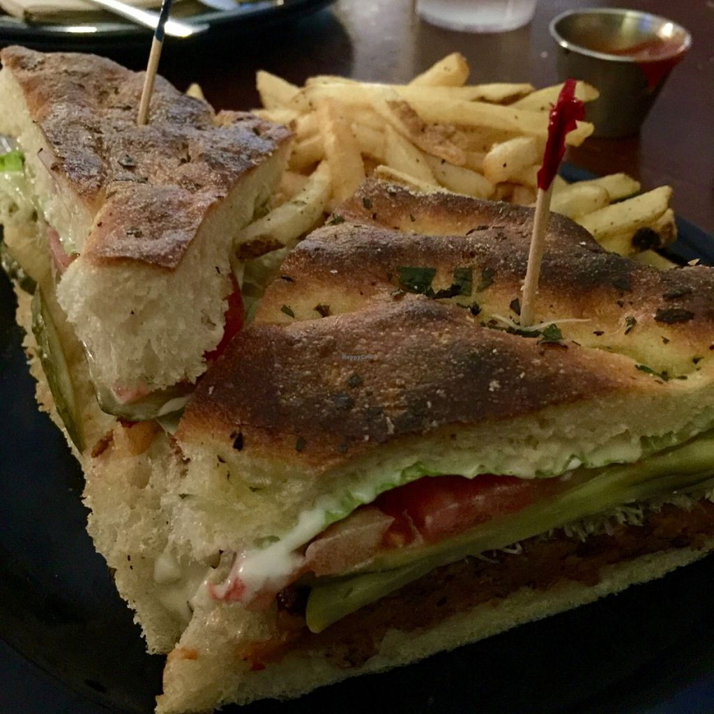 """Photo of Sticks and Stones Clay Oven Pizza  by <a href=""""/members/profile/VeganskisLove"""">VeganskisLove</a> <br/>Evergreen Burger <br/> May 17, 2016  - <a href='/contact/abuse/image/31357/149529'>Report</a>"""