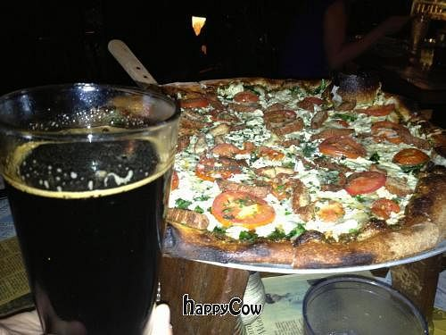 """Photo of Sticks and Stones Clay Oven Pizza  by <a href=""""/members/profile/appandy15"""">appandy15</a> <br/>Vegan cheese pizza and beer <br/> November 18, 2012  - <a href='/contact/abuse/image/31357/40432'>Report</a>"""