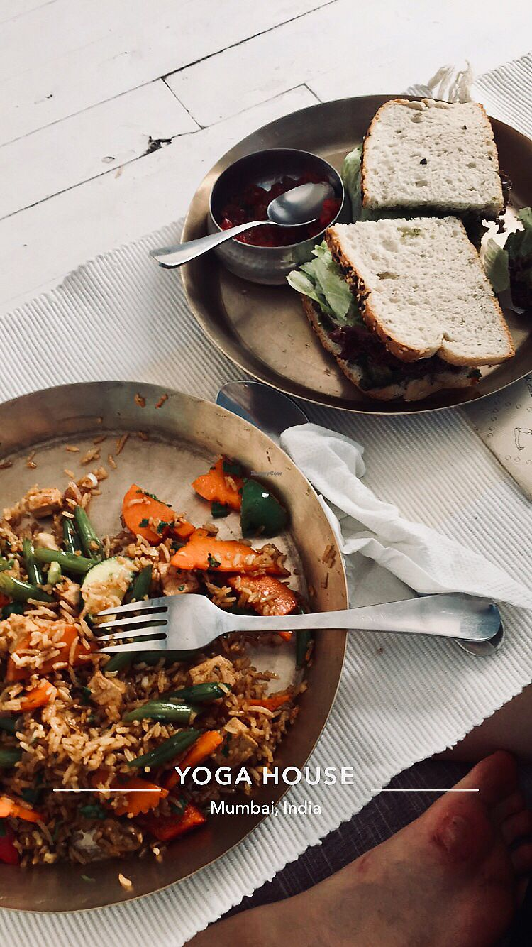 "Photo of The Yoga House  by <a href=""/members/profile/Alicia%E0%A5%90"">Aliciaॐ</a> <br/>Already half way through the meal I had to take a pic  <br/> May 5, 2018  - <a href='/contact/abuse/image/31377/395634'>Report</a>"