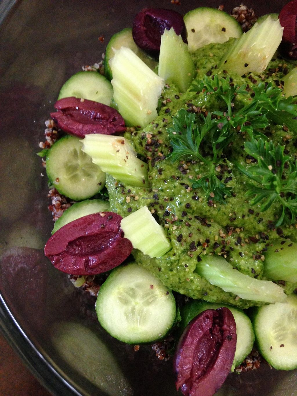 """Photo of The Enchanted Chef  by <a href=""""/members/profile/Ronald%20Lee%20Relyea"""">Ronald Lee Relyea</a> <br/>Basil Pesto Kalamata Olives Cucumbers <br/> August 31, 2015  - <a href='/contact/abuse/image/31388/116051'>Report</a>"""