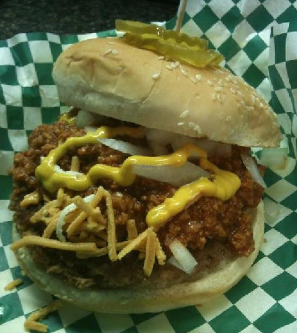 """Photo of Bean Vegan Cuisine  by <a href=""""/members/profile/beanvegan"""">beanvegan</a> <br/>Old Fashioned Burger <br/> November 10, 2012  - <a href='/contact/abuse/image/31397/214456'>Report</a>"""