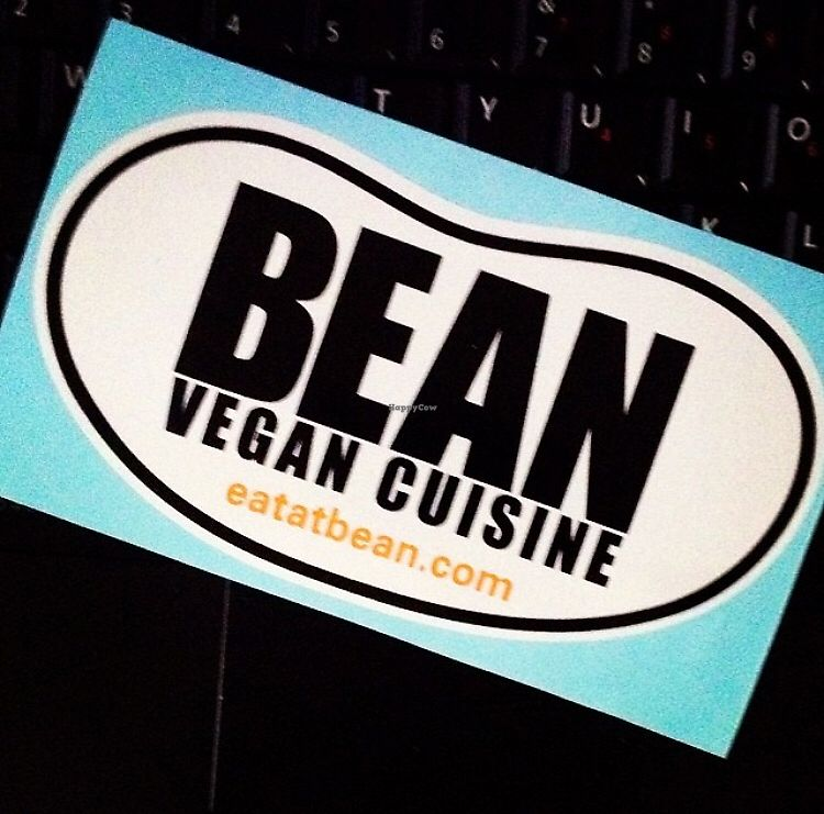 """Photo of Bean Vegan Cuisine  by <a href=""""/members/profile/KellyMcDonald"""">KellyMcDonald</a> <br/>Free bumper stickers <br/> January 4, 2018  - <a href='/contact/abuse/image/31397/342769'>Report</a>"""