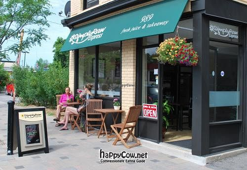 "Photo of SimplyRaw Express  by <a href=""/members/profile/ottawavegan"">ottawavegan</a> <br/>Exterior summer pic <br/> July 8, 2012  - <a href='/contact/abuse/image/31416/34268'>Report</a>"