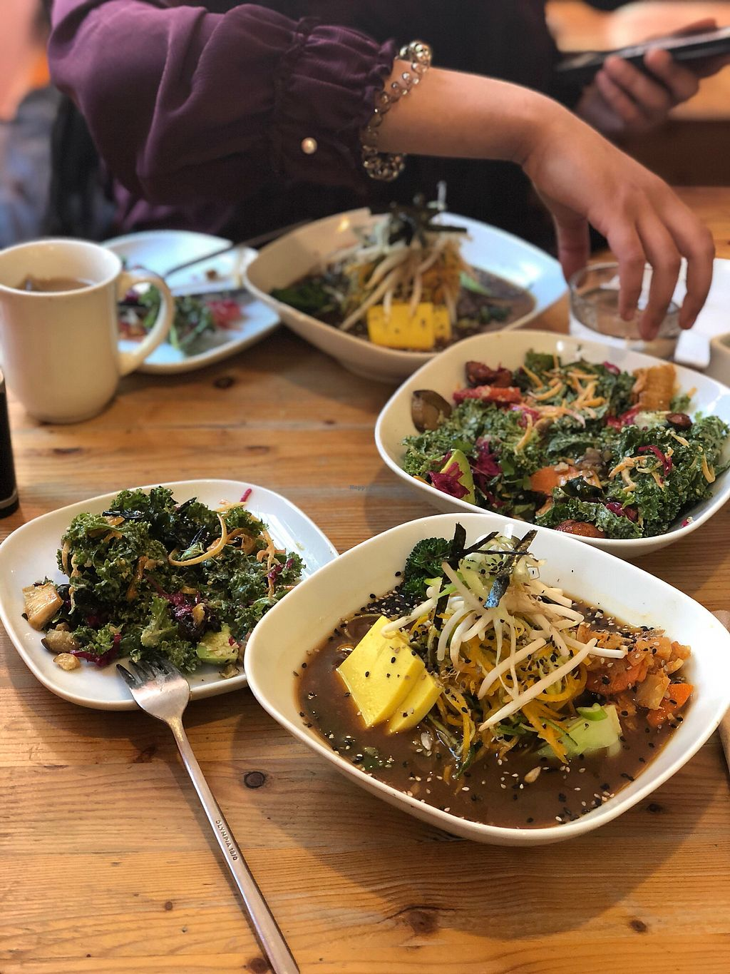 """Photo of Wild Food Cafe  by <a href=""""/members/profile/VitaliyaN"""">VitaliyaN</a> <br/>Wabi-Sabi Salad and Chickpea Tofu Ramen Bowl - yum!! <br/> February 11, 2018  - <a href='/contact/abuse/image/31440/357946'>Report</a>"""