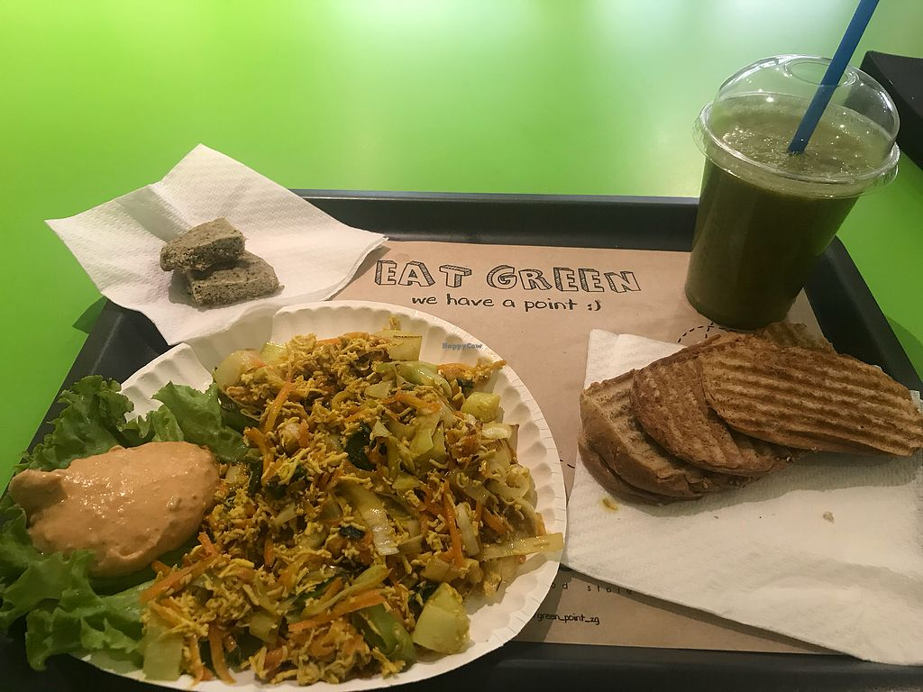 """Photo of Green Point  by <a href=""""/members/profile/JenniferValentini"""">JenniferValentini</a> <br/>Tofu scramble and green shake <br/> May 22, 2018  - <a href='/contact/abuse/image/31463/403255'>Report</a>"""