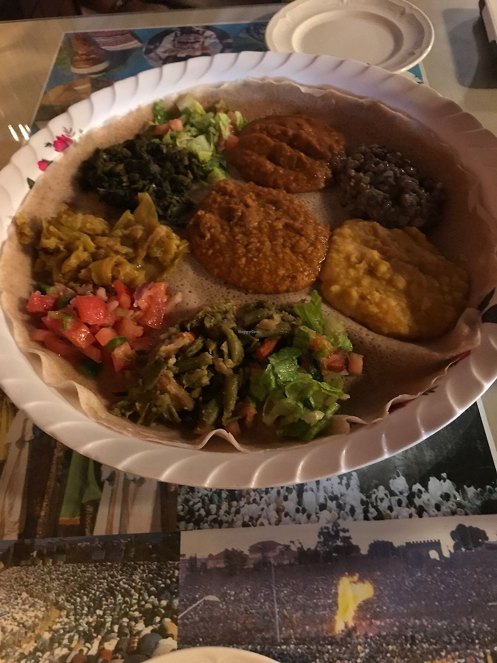 """Photo of Nile Ethiopian Restaurant  by <a href=""""/members/profile/yoga_veg"""">yoga_veg</a> <br/>Vegetarian platter <br/> August 3, 2017  - <a href='/contact/abuse/image/31488/288281'>Report</a>"""