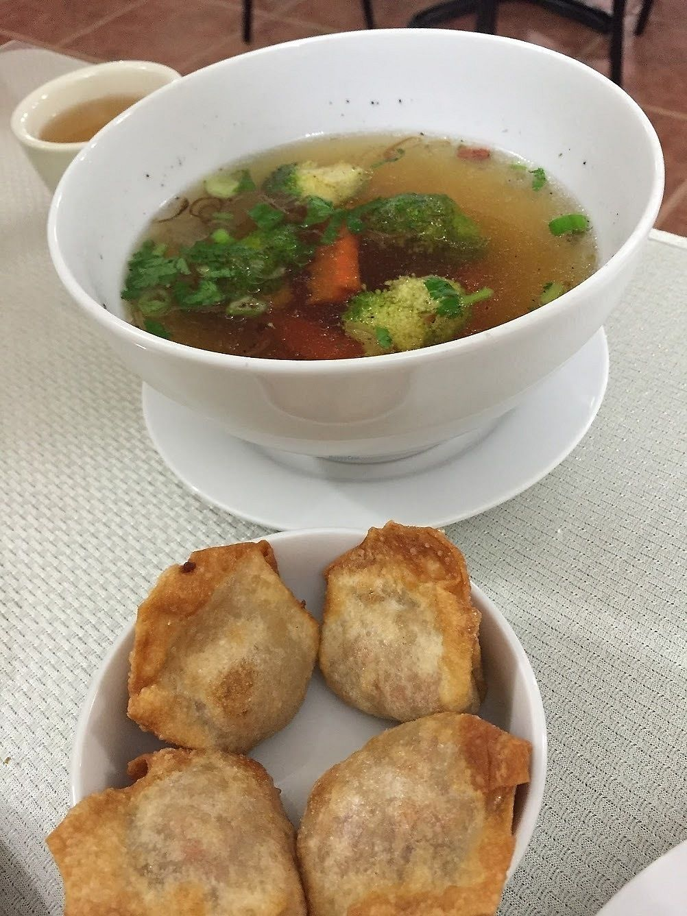 """Photo of Lotus Vegan Restaurant  by <a href=""""/members/profile/Jamie9705"""">Jamie9705</a> <br/>The best wonton soup ever <br/> September 14, 2017  - <a href='/contact/abuse/image/31533/304268'>Report</a>"""