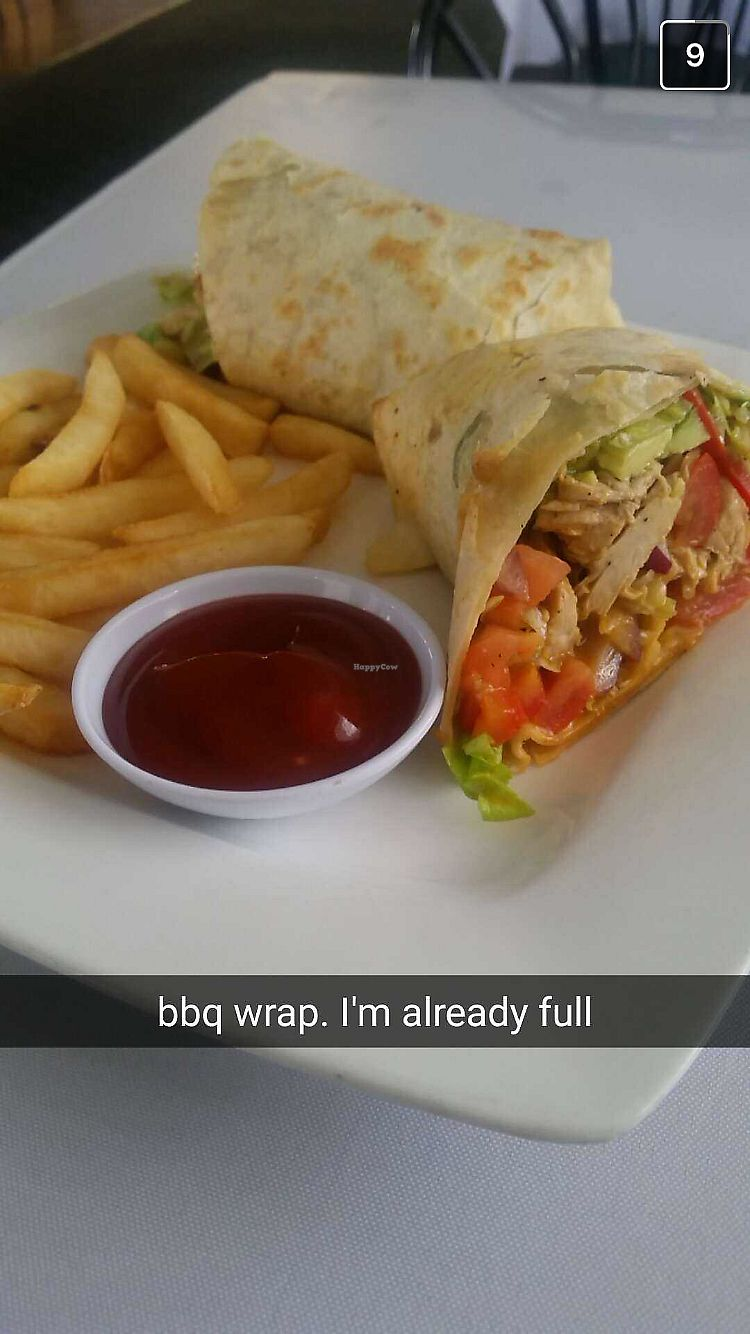 """Photo of Lotus Vegan Restaurant  by <a href=""""/members/profile/Jamie9705"""">Jamie9705</a> <br/>BBQ wrap! <br/> September 14, 2017  - <a href='/contact/abuse/image/31533/304289'>Report</a>"""