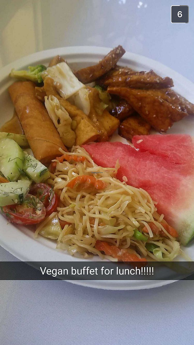 """Photo of Lotus Vegan Restaurant  by <a href=""""/members/profile/Jamie9705"""">Jamie9705</a> <br/>Plate of food from their monthly buffet <br/> September 14, 2017  - <a href='/contact/abuse/image/31533/304291'>Report</a>"""