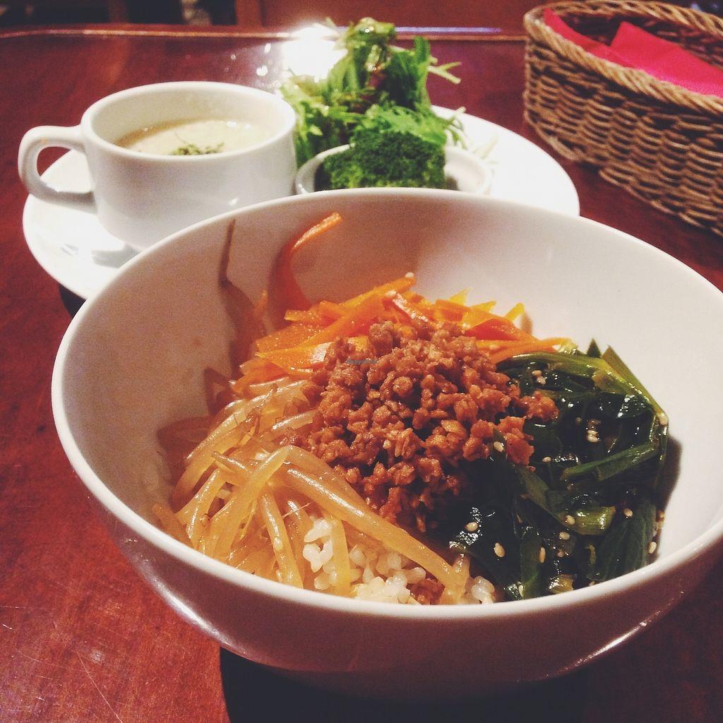 "Photo of CLOSED: Matsuontoko Cafe  by <a href=""/members/profile/YukiLim"">YukiLim</a> <br/>Vegan bibimbap lunch set <br/> July 17, 2017  - <a href='/contact/abuse/image/31575/281473'>Report</a>"