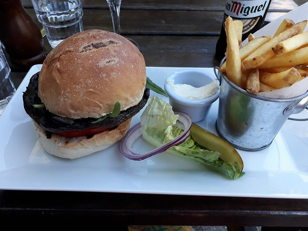 """Photo of Domali Cafe  by <a href=""""/members/profile/LilacHippy"""">LilacHippy</a> <br/>Vegan burger <br/> July 4, 2017  - <a href='/contact/abuse/image/31615/276554'>Report</a>"""