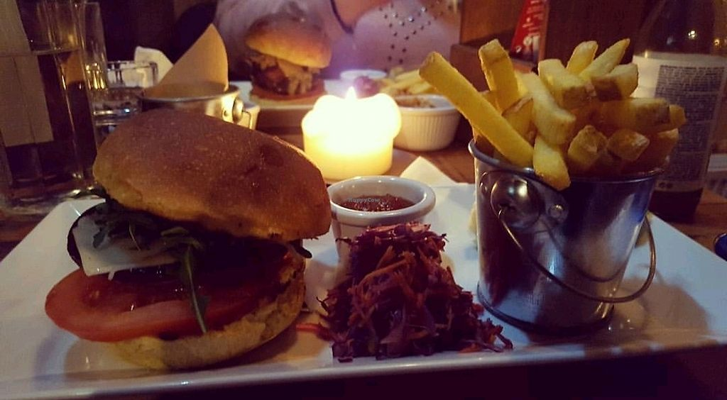 """Photo of Domali Cafe  by <a href=""""/members/profile/Vegfix"""">Vegfix</a> <br/>Vegan Mushroom Burger  <br/> September 13, 2017  - <a href='/contact/abuse/image/31615/303994'>Report</a>"""