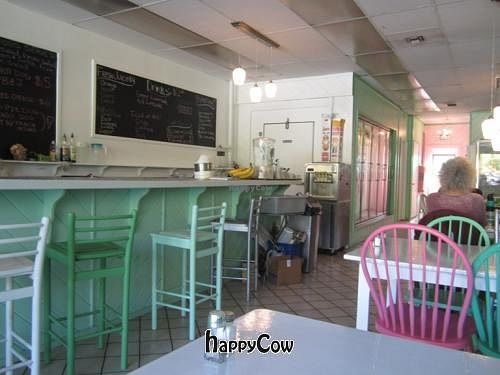 """Photo of CLOSED: Mint Tulip Vegan Cafe  by <a href=""""/members/profile/Julie%20R"""">Julie R</a> <br/>Inside - very cute decor <br/> October 24, 2012  - <a href='/contact/abuse/image/3162/39413'>Report</a>"""