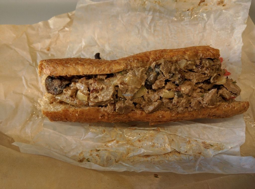 """Photo of HipCityVeg - Rittenhouse  by <a href=""""/members/profile/hailseitan23"""">hailseitan23</a> <br/>Philly cheese steak <br/> September 29, 2016  - <a href='/contact/abuse/image/31663/178434'>Report</a>"""