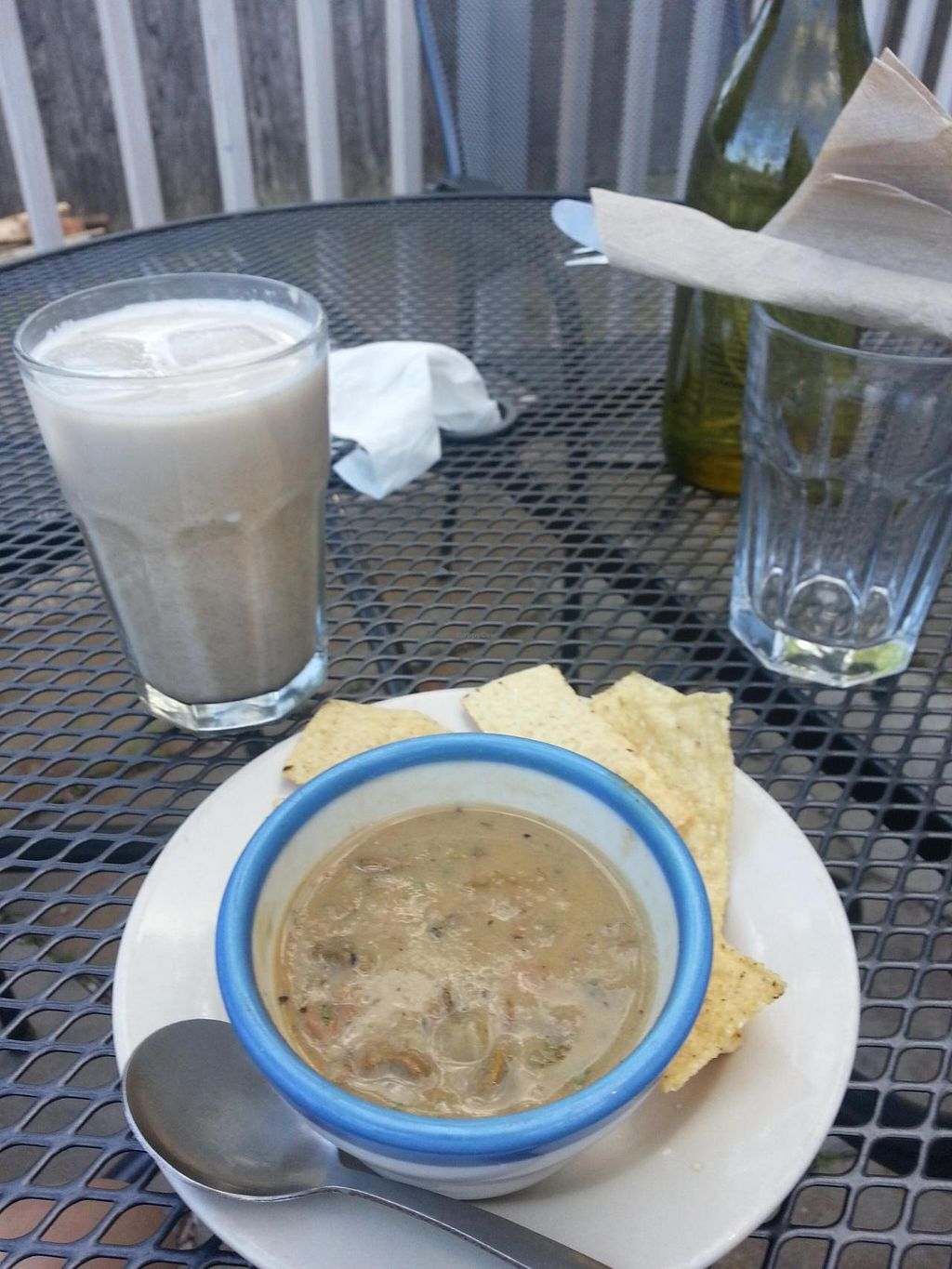 """Photo of Susty's Cafe  by <a href=""""/members/profile/HowardPacker"""">HowardPacker</a> <br/>Soup and Chai at available outdoor seating <br/> June 17, 2014  - <a href='/contact/abuse/image/3167/72178'>Report</a>"""