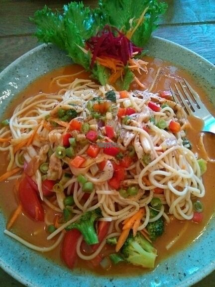 """Photo of Imm Aim Vegetarian and Bike Cafe  by <a href=""""/members/profile/happytina"""">happytina</a> <br/>curry spaghetti  <br/> October 25, 2016  - <a href='/contact/abuse/image/31687/184341'>Report</a>"""