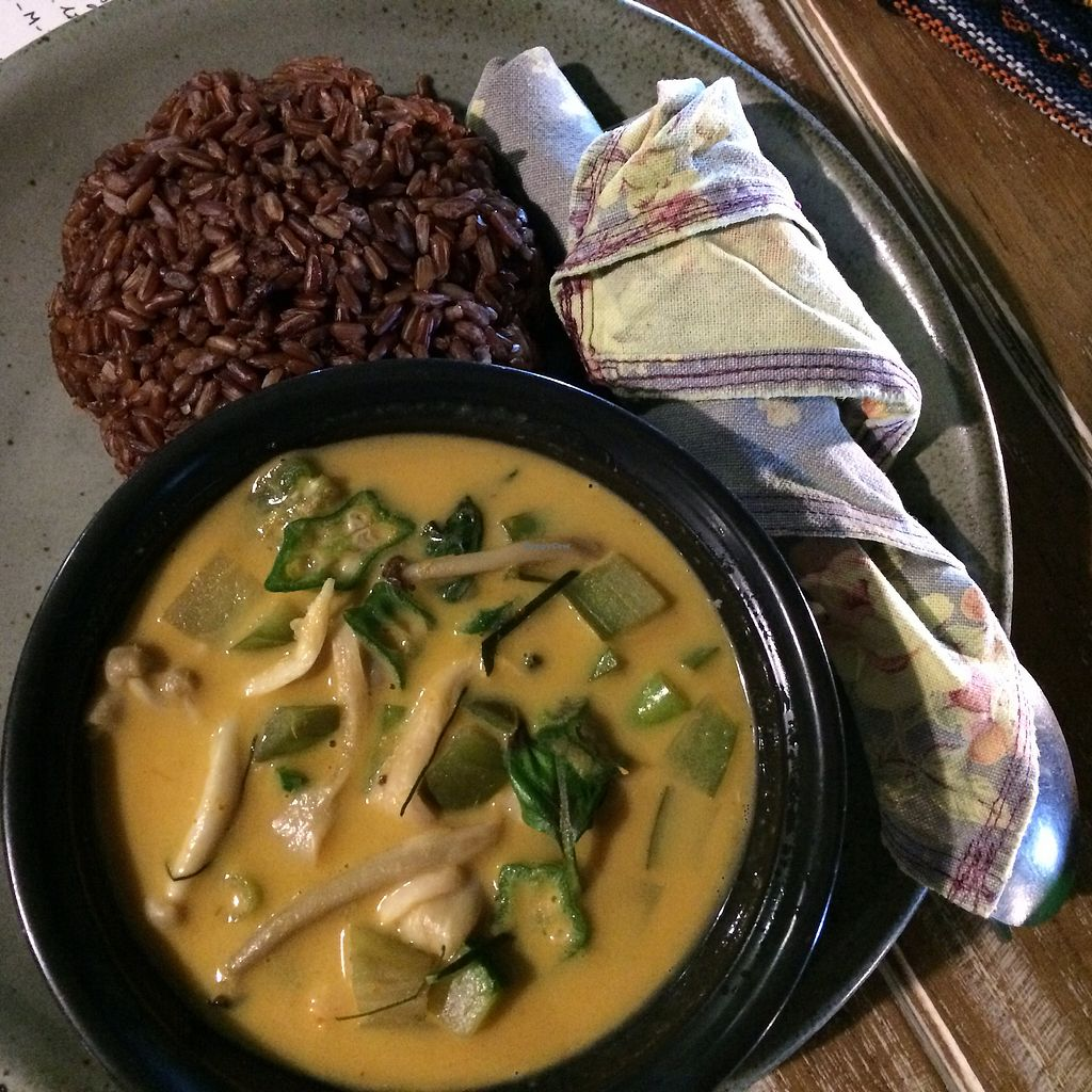 """Photo of Imm Aim Vegetarian and Bike Cafe  by <a href=""""/members/profile/evoontoast"""">evoontoast</a> <br/>Panang Curry - not as thick as I'd've liked <br/> September 18, 2017  - <a href='/contact/abuse/image/31687/305701'>Report</a>"""