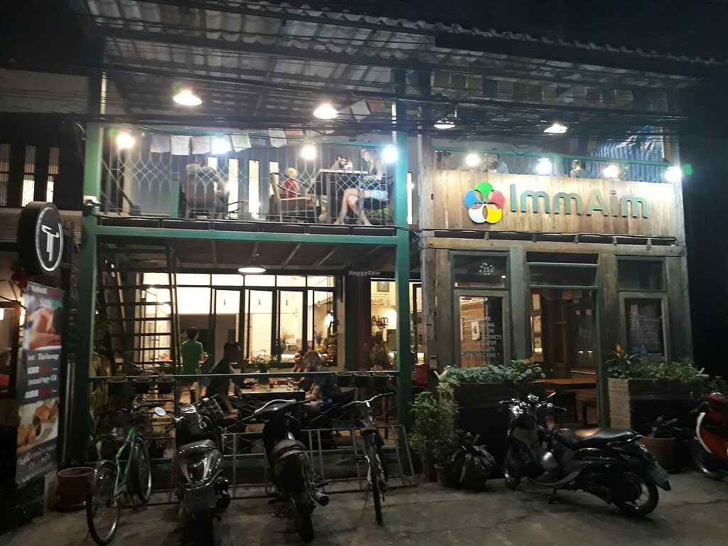 """Photo of Imm Aim Vegetarian and Bike Cafe  by <a href=""""/members/profile/LilacHippy"""">LilacHippy</a> <br/>Outside <br/> March 3, 2018  - <a href='/contact/abuse/image/31687/366075'>Report</a>"""