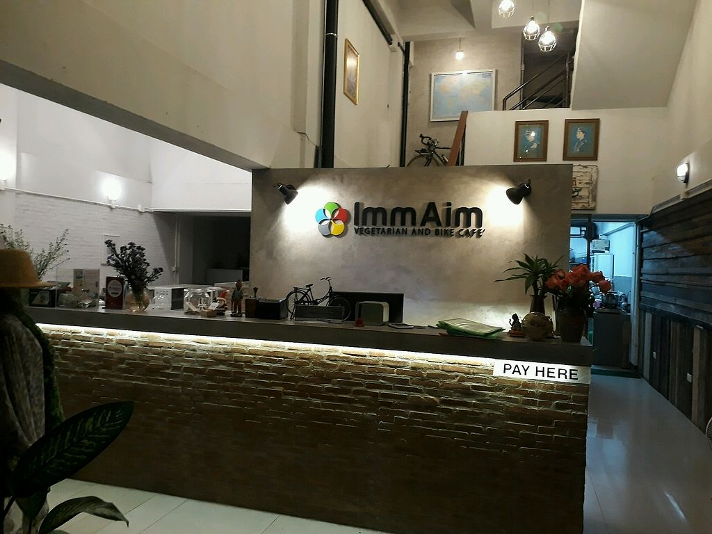 """Photo of Imm Aim Vegetarian and Bike Cafe  by <a href=""""/members/profile/LilacHippy"""">LilacHippy</a> <br/>Inside <br/> March 4, 2018  - <a href='/contact/abuse/image/31687/366425'>Report</a>"""