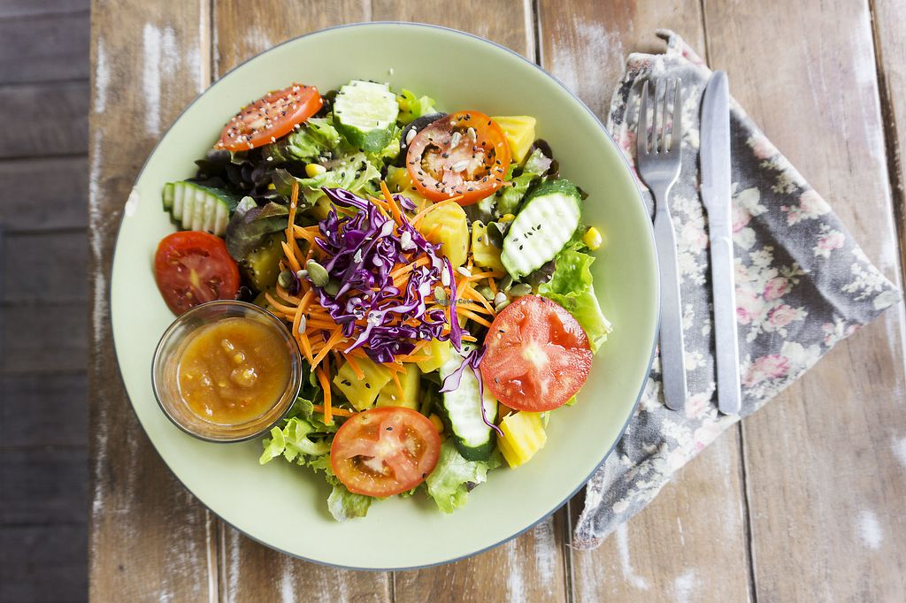 """Photo of Imm Aim Vegetarian and Bike Cafe  by <a href=""""/members/profile/stadthund"""">stadthund</a> <br/>Sweet potato salad <br/> March 21, 2018  - <a href='/contact/abuse/image/31687/374044'>Report</a>"""