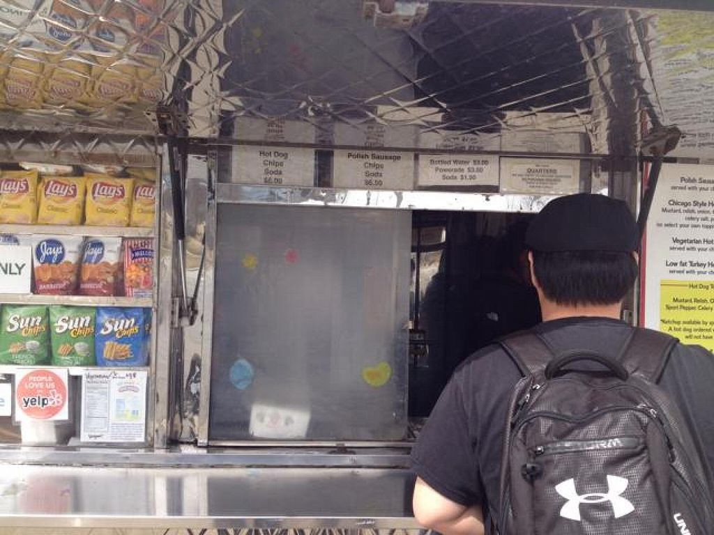 """Photo of Kim and Carlos Hot Dog Stand  by <a href=""""/members/profile/mbentz"""">mbentz</a> <br/>stand front <br/> April 6, 2014  - <a href='/contact/abuse/image/31689/67145'>Report</a>"""