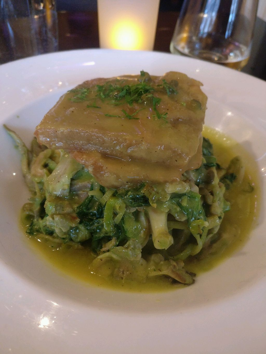 """Photo of Candle Cafe West  by <a href=""""/members/profile/rogueavocado"""">rogueavocado</a> <br/>Seitan piccata <br/> March 30, 2018  - <a href='/contact/abuse/image/31715/378518'>Report</a>"""