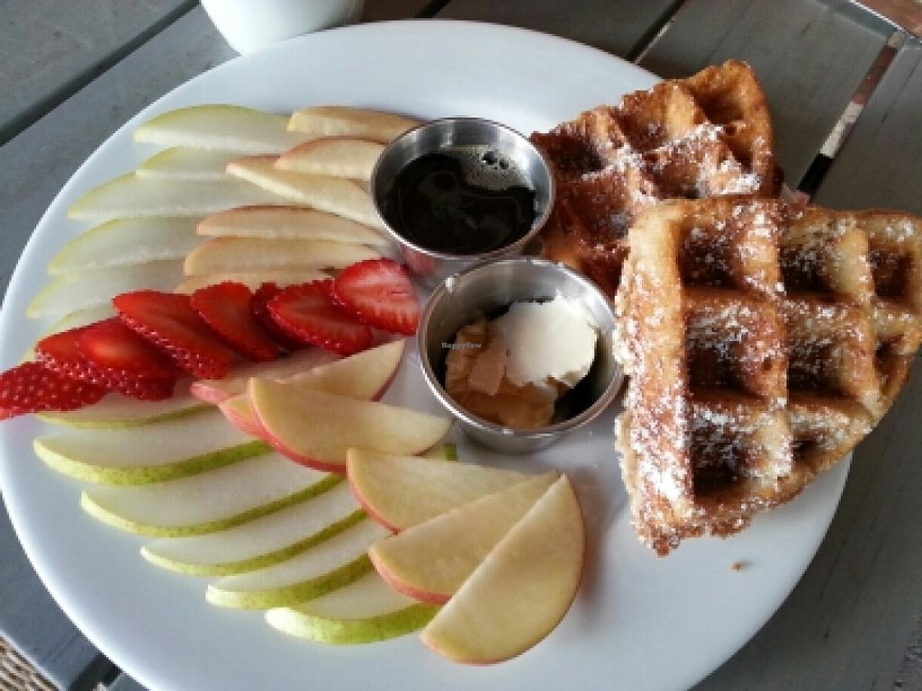 "Photo of Green Bliss - the Cafe  by <a href=""/members/profile/eric"">eric</a> <br/>vegan waffle special <br/> March 10, 2016  - <a href='/contact/abuse/image/31742/139520'>Report</a>"