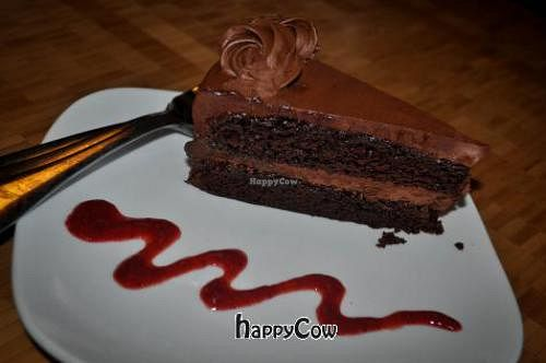 "Photo of French Broad Chocolate Lounge  by <a href=""/members/profile/JessinJax"">JessinJax</a> <br/>Theros Olive Oil Vegan Chocolate Cake <br/> November 29, 2012  - <a href='/contact/abuse/image/31755/40902'>Report</a>"