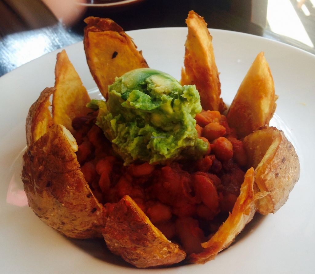 """Photo of Mad Spuds  by <a href=""""/members/profile/NirvanaRoseWilliams"""">NirvanaRoseWilliams</a> <br/>Vegan nachos  <br/> May 22, 2016  - <a href='/contact/abuse/image/31768/248634'>Report</a>"""