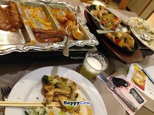 "Photo of Loving Hut  by <a href=""/members/profile/VeganTrav"">VeganTrav</a> <br/>several different main courses :) <br/> November 30, 2013  - <a href='/contact/abuse/image/31773/59453'>Report</a>"