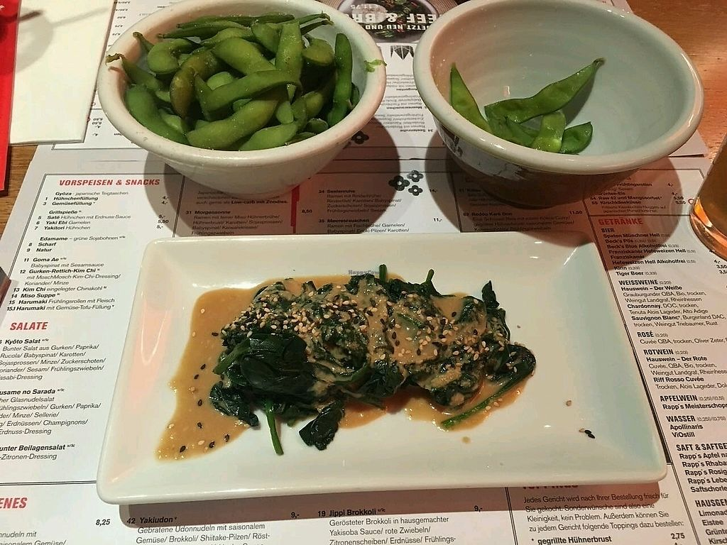 """Photo of MoschMosch  by <a href=""""/members/profile/Wilkou"""">Wilkou</a> <br/>Edamame und Spinat mit Erdnußdressing <br/> March 7, 2018  - <a href='/contact/abuse/image/31916/367696'>Report</a>"""
