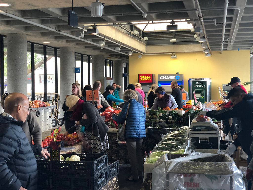 """Photo of Parnassus Farmers' Market  by <a href=""""/members/profile/BrittanyHowze"""">BrittanyHowze</a> <br/>Farmers market is pretty small, but bustling at lunch hour <br/> April 18, 2018  - <a href='/contact/abuse/image/31958/387728'>Report</a>"""