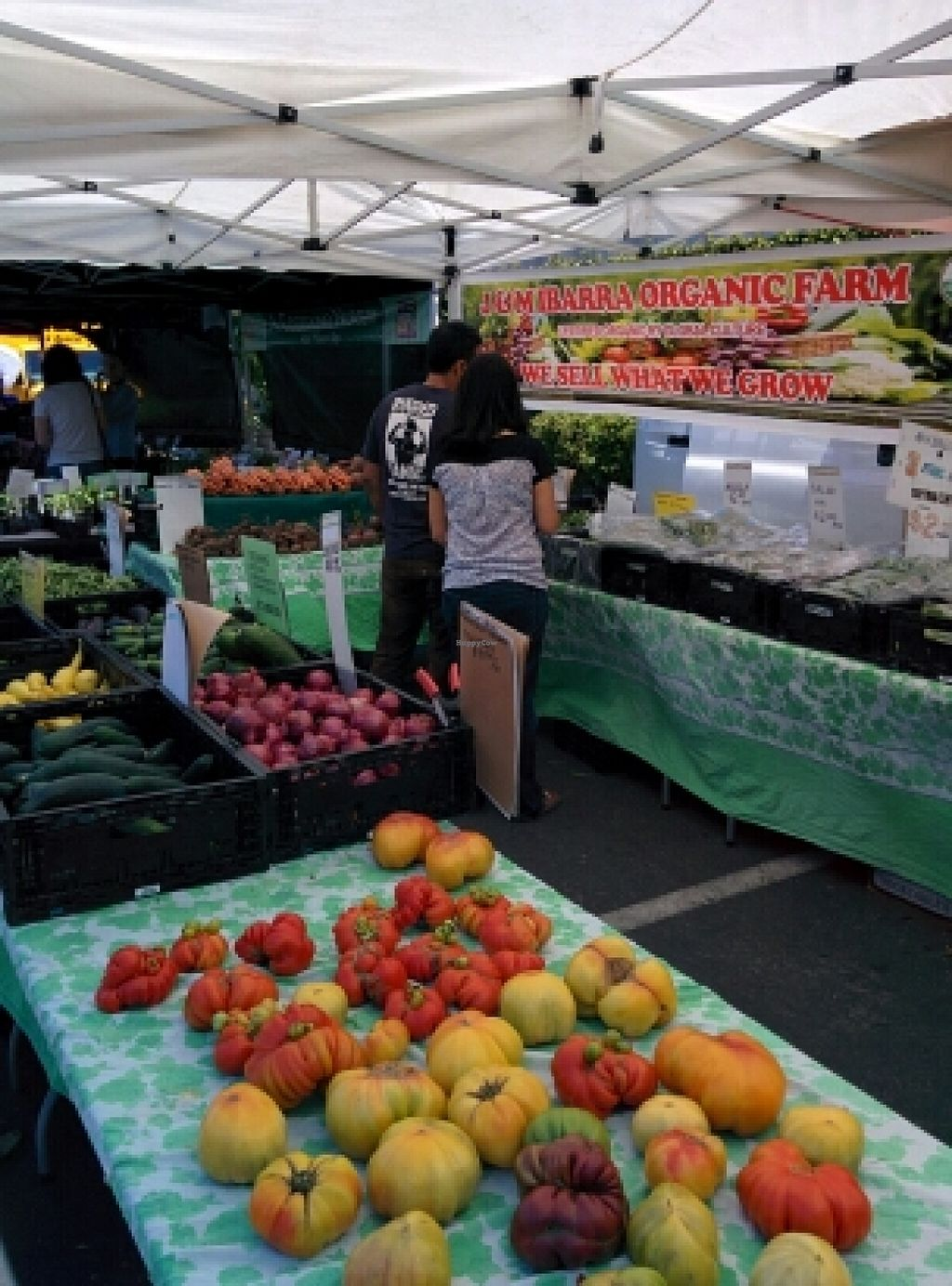 """Photo of Belmont Farmers' Market  by <a href=""""/members/profile/alexandra_vegan"""">alexandra_vegan</a> <br/>organic produce, One of the few in this market <br/> June 15, 2016  - <a href='/contact/abuse/image/31963/153950'>Report</a>"""
