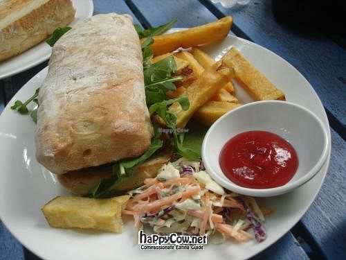 """Photo of Snap Cafe  by <a href=""""/members/profile/ViolaineB"""">ViolaineB</a> <br/>Cheese and salad sandwich with coleslaw and chips <br/> May 22, 2012  - <a href='/contact/abuse/image/31998/32098'>Report</a>"""