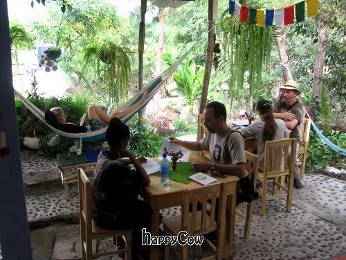 "Photo of Fifth Dimension Cafe  by <a href=""/members/profile/Happycow36"">Happycow36</a> <br/>The view from the front entrance of Cafe Home in San Pedro La Laguna by Lake Atitlan, Guatemala <br/> January 4, 2013  - <a href='/contact/abuse/image/32008/42332'>Report</a>"