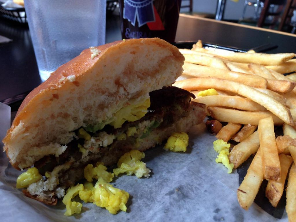 """Photo of The Burger Stand  by <a href=""""/members/profile/cwarrick1"""">cwarrick1</a> <br/>falafel burger <br/> March 8, 2014  - <a href='/contact/abuse/image/32088/65538'>Report</a>"""