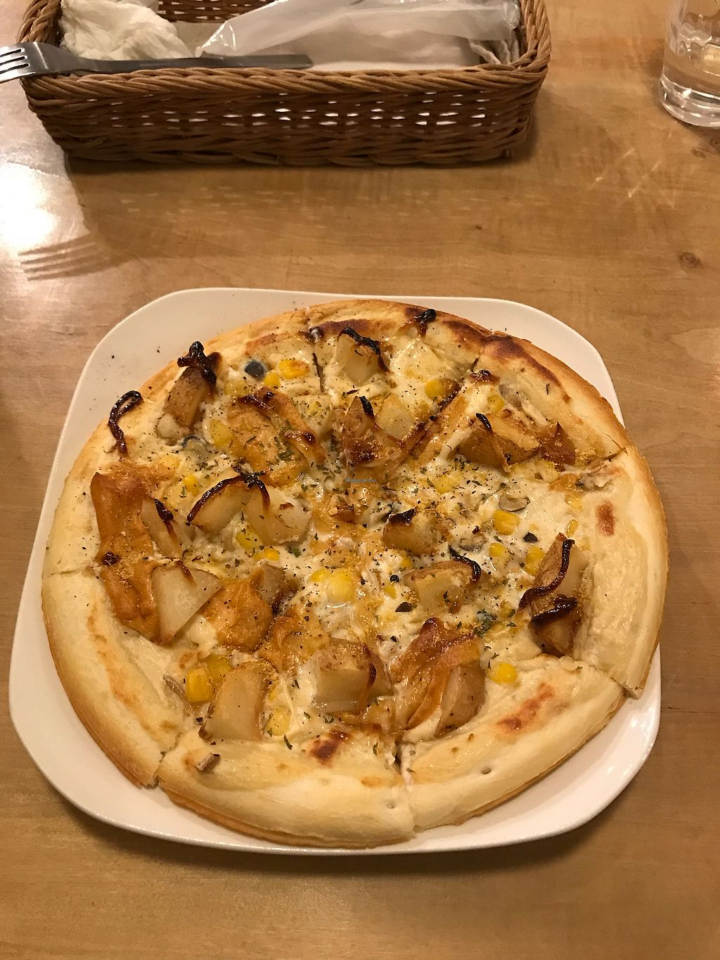 """Photo of Morpho Cafe  by <a href=""""/members/profile/Whiteeve"""">Whiteeve</a> <br/>Potato Pizza <br/> November 23, 2017  - <a href='/contact/abuse/image/32107/328312'>Report</a>"""