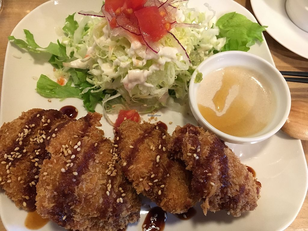 """Photo of Morpho Cafe  by <a href=""""/members/profile/VeganBec"""">VeganBec</a> <br/>Cutlets. Soo good  <br/> April 7, 2018  - <a href='/contact/abuse/image/32107/381868'>Report</a>"""