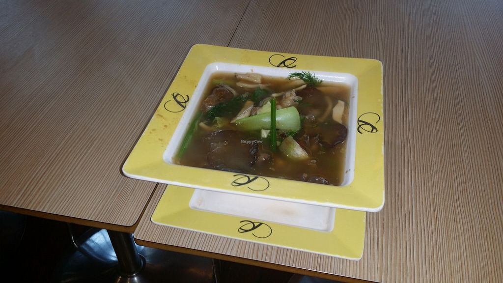 "Photo of Central World Mall - Talalask  by <a href=""/members/profile/yehadut"">yehadut</a> <br/>Gaeng Aom เเกงออม, an isan mushroom soup, was very spicy and had an unusual flavor <br/> September 27, 2015  - <a href='/contact/abuse/image/32117/119402'>Report</a>"