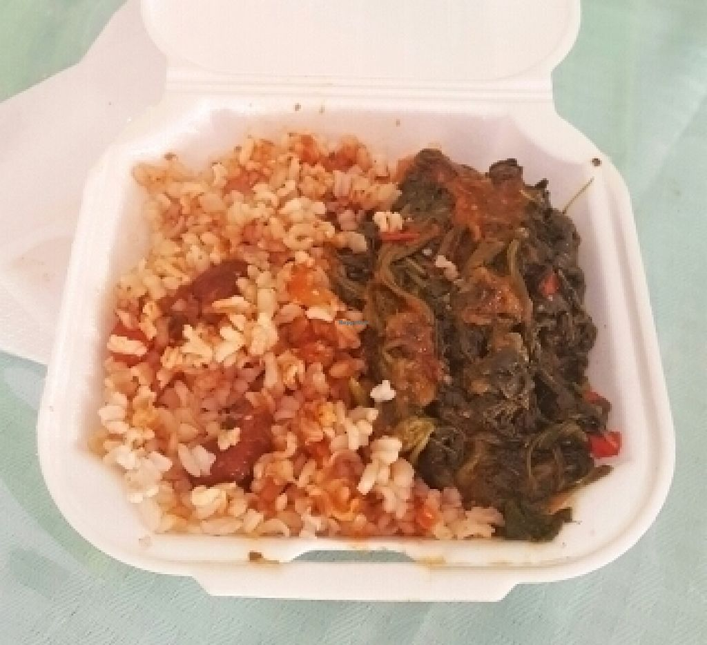 """Photo of Sweet Life Cafe  by <a href=""""/members/profile/mohare22"""">mohare22</a> <br/>rice and beans and spinach <br/> July 11, 2016  - <a href='/contact/abuse/image/32154/159030'>Report</a>"""